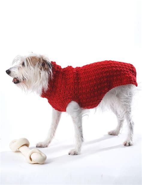 crochet patterns for dog coats free yarnspirations com bernat crochet dog coat patterns