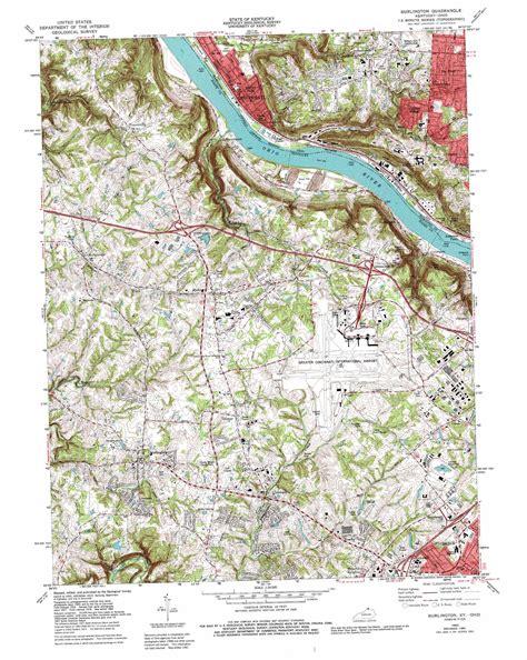 burlington map burlington topographic map ky oh usgs topo 39084a6