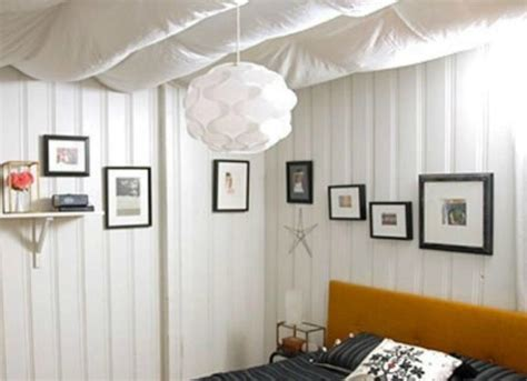 Cloth Ceiling Basement by Unfinished Basement Ideas 9 Affordable Tips Bob Vila