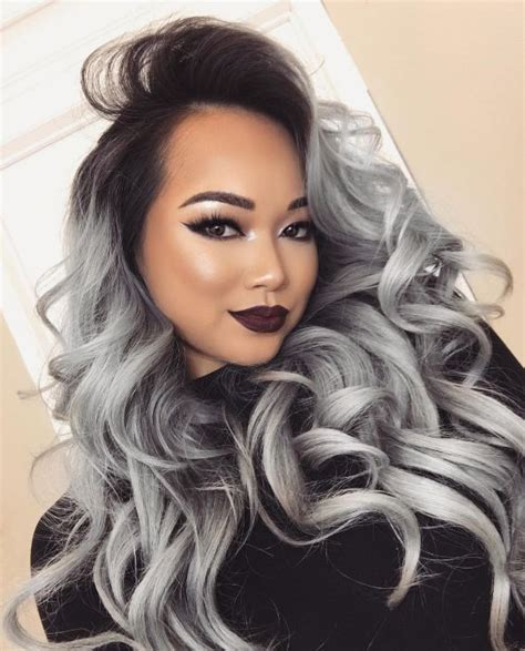 Ombre Look Grau by 17 Best Ideas About Grey Ombre Hair On Black