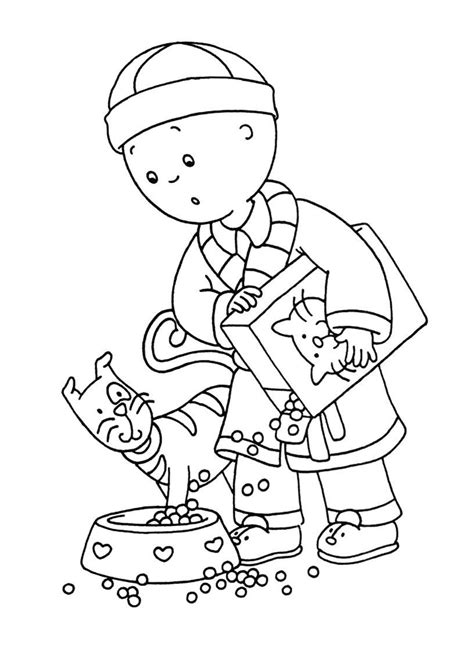 printable coloring pages free printable caillou coloring pages for