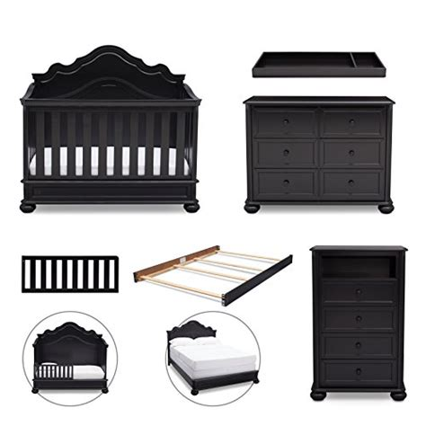 Simmons Kids Peyton 6 Piece Nursery Furniture Set Curve 6 Nursery Furniture Set