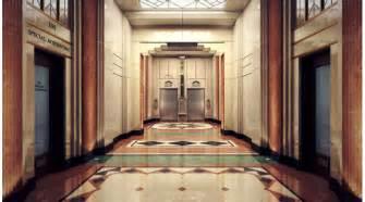 Art Deco Hotel Hallway 3d Library 3d Scenes Interior