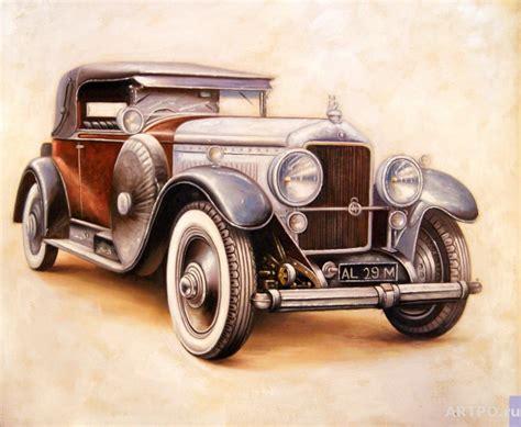 retro cers retro car smorodinov ruslan artpo art for sale