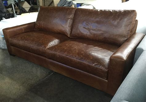 90 inch leather sofa 90 inch braxton twin cushion leather sofa in italian