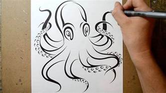 How to draw an octopus tribal tattoo design style youtube