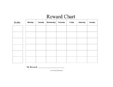 blank reward chart template printable reward chart