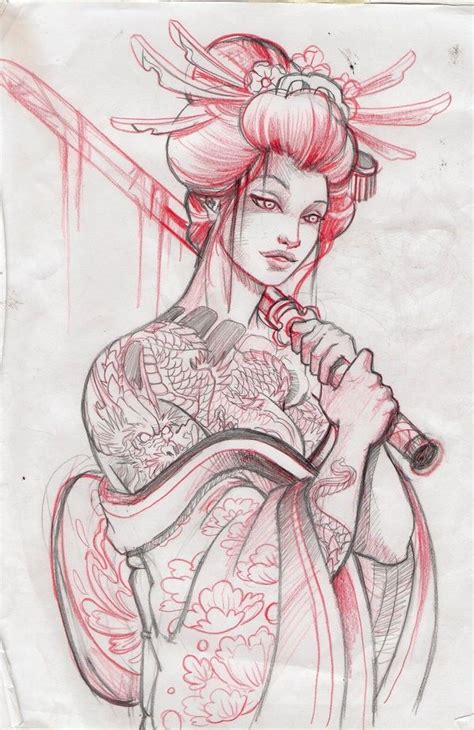 tattoo geisha vorlagen 52 japanese geisha tattoo designs and drawings with images