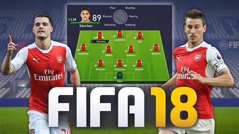 arsenal fifa 18 all arsenal player ratings in fifa 18 youtube
