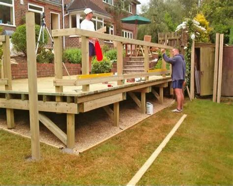 how to build a backyard deck how to build a deck part 05 building the subframe how