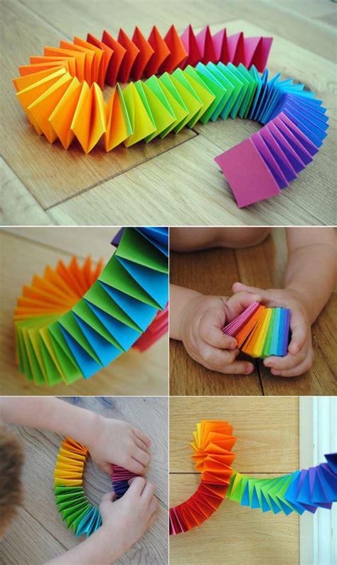 Folded Paper Garland - folded paper garland paper garlands craft activities
