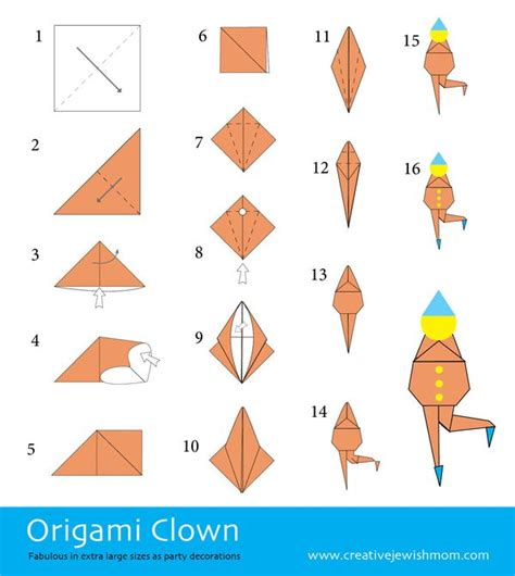 Origami Clown - how to fold origami clowns creative
