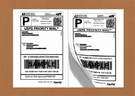 ebay shipping label template fedex shipping labels