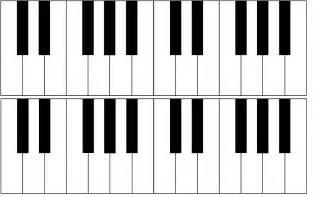 blank piano keyboard clipart best