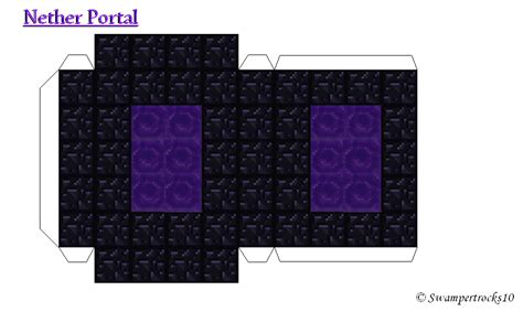 Papercraft Portal - papercraft nether portal