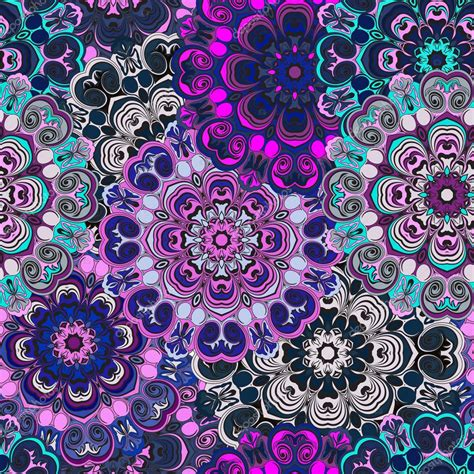 violet colored violet colored seamless pattern with eastern floral