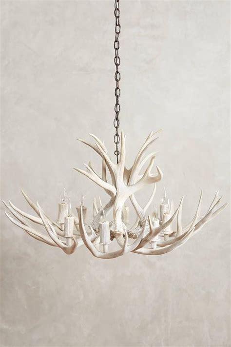 white antler chandelier white shed antler chandelier