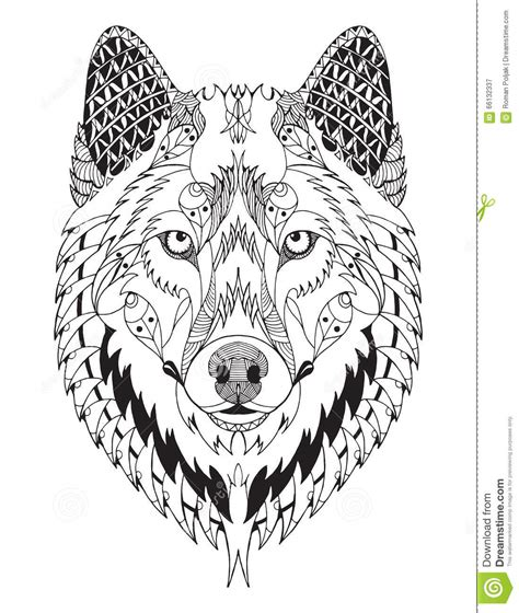 Wolf Zentangle Outline by 1000 Images About Zentangle Animal Shapes On