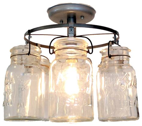 farmhouse ceiling lights the l goods vintage jar ceiling light flush