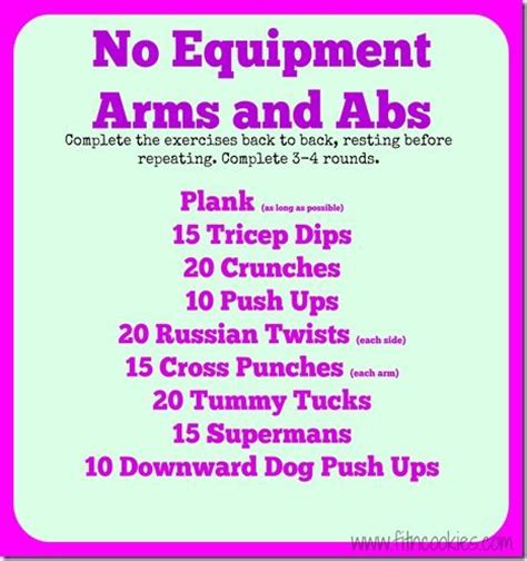 no equipment arms and abs workout workout