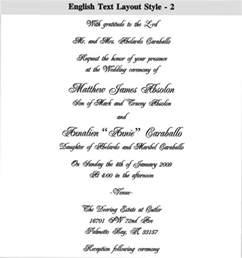 personal wedding card matter in telugu indian wedding card sle wedding gallery