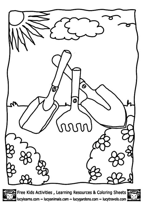 Vegetable Garden Free Coloring Pages Vegetable Garden Coloring Pages