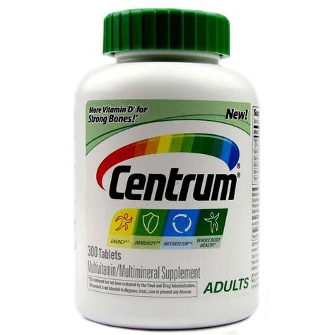 Vitamin Centrum centrum adults multivitamin 300 tablets evitamins uk