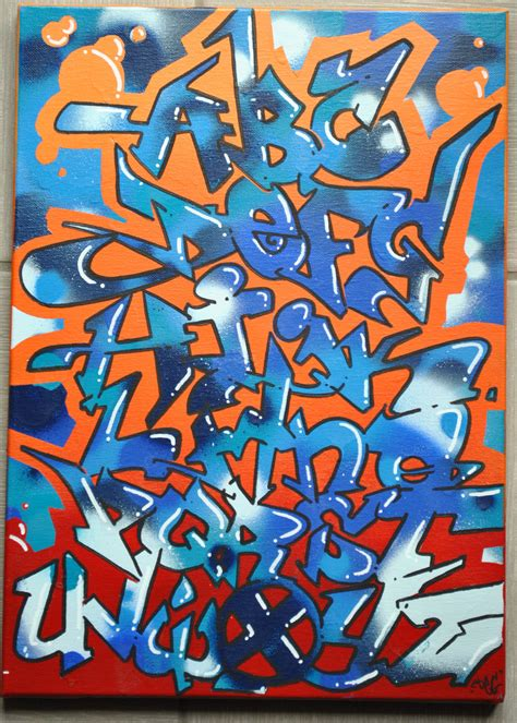 Nice Graffiti On Canvas #3: Graffiti_alphabet_by_degoud-d6o4fdf.jpg