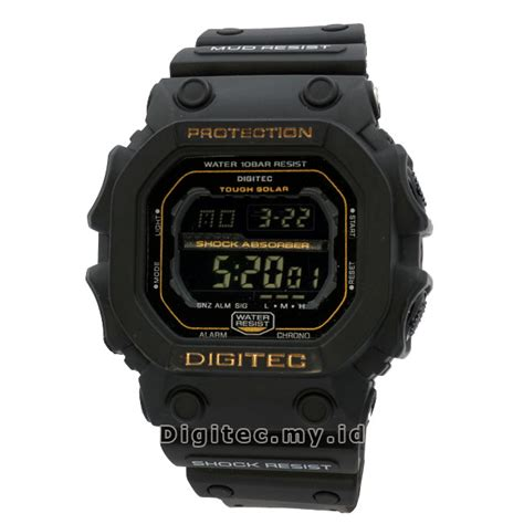 Jam Tangan Wanita Original Digitec Dg2106 Black Gold Waterresist digitec dg 2012t black gold jam tangan sport anti air murah