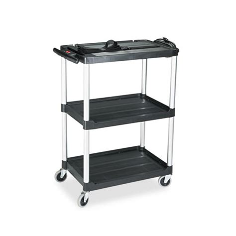 Rubbermaid 3 Shelf Cart by Rubbermaid Mediamaster Three Shelf Av Cart Rcp9t30