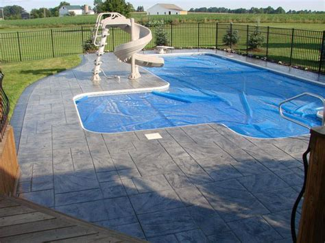 Stamped Concrete Walkway   Outdoor Pool