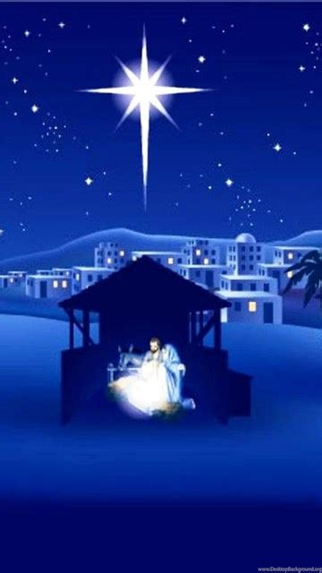 merry christmas nativity backgrounds desktop background