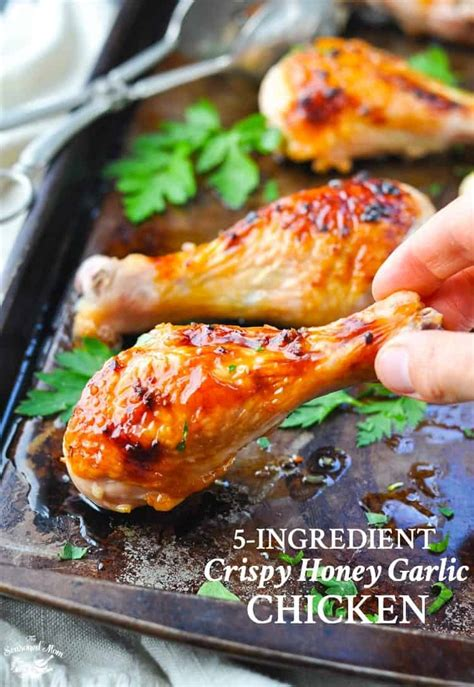 5 ingredient crispy honey garlic chicken the seasoned mom