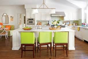 decorating a kitchen island gathering island stylish kitchen island ideas southern living