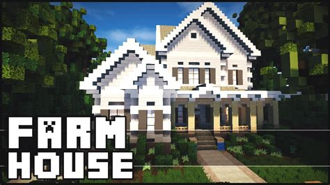 Ranch Blueprints by Minecraft Beautiful Farm House Youtube