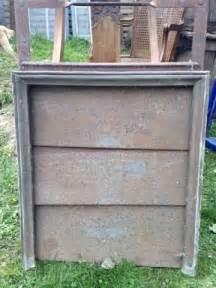 ancienne poignee coquille en laiton pour rideau cheminee 224