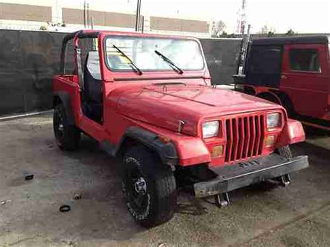 Jeep 93 Wrangler Sell Used 93 Jeep Wrangler Yj Sport Stock 2 5 4 Cyl 4x4 5