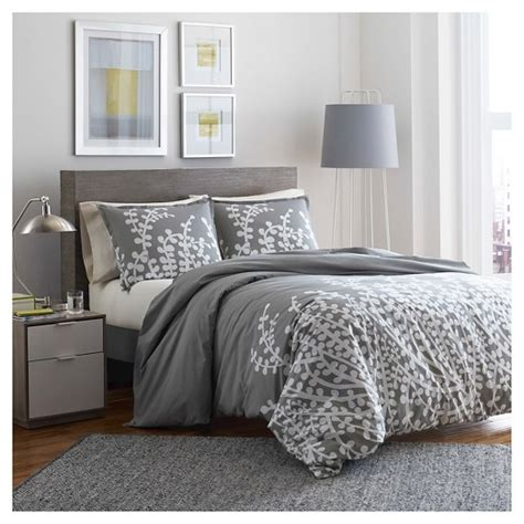 branches comforter and sham set full queen gray city