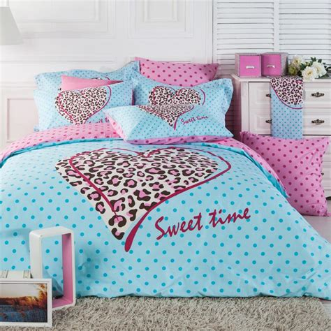 Pink And Blue Bedding Sets Light Blue Pink And Brown Leopard Cheetah And Polka Dot Print Princess Themed