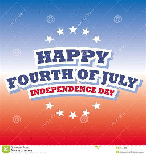 happy fourth of july independence day banner stock