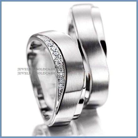 imagenes de anillos en oro blanco argollas de matrimonio mod zeus en oro blanco 14k solido