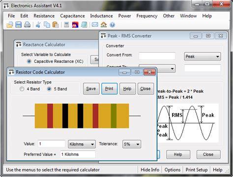 multi led resistor calculator electronics assistant dan valves