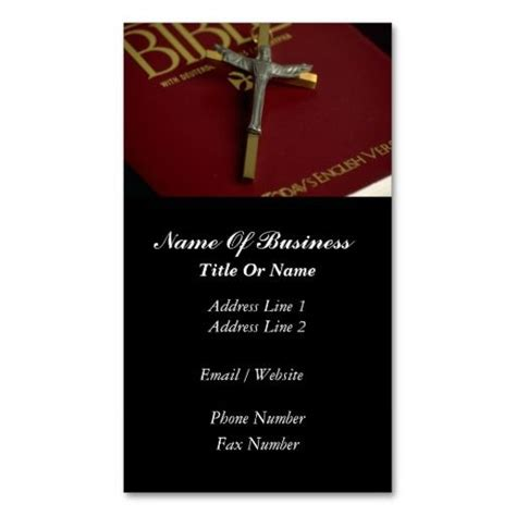 Christian Business Cards Templates by Religious Professions Business Card Templates Fragmat Info