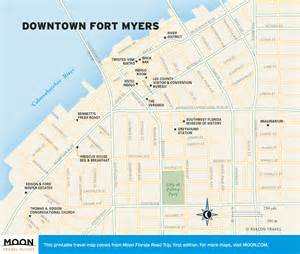 florida fort myers map travel map of downtown fort myers florida