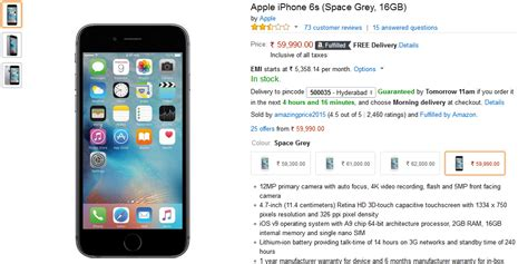 buy iphone 6s 16 gb space grey at rs 59 990