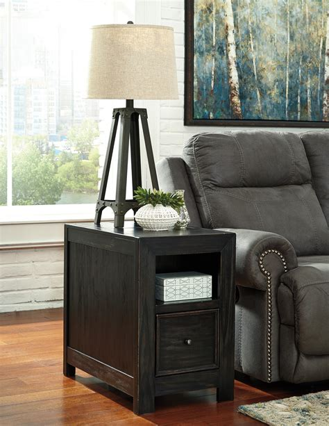 end tables with built in outlets chair side end table with lift up lid built in power
