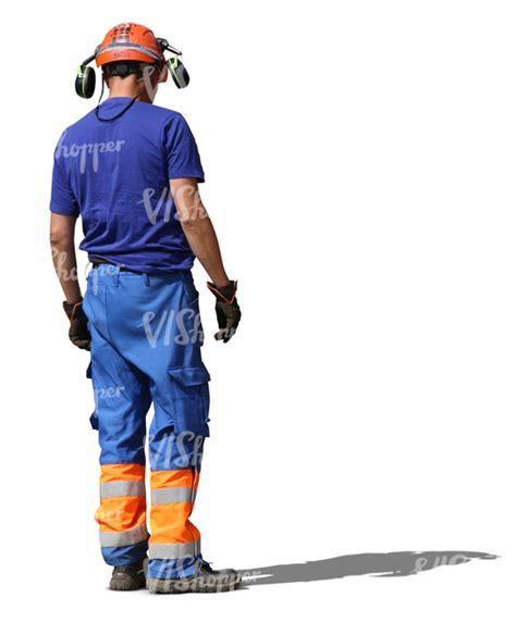 best headphones for construter workers construction worker with helmet and headphones standing