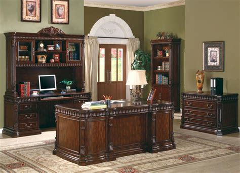 Rich Brown Home Office Desk Office Sets Home Office Desk Set