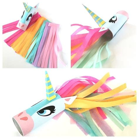 Paper Rolling Craft - unicorn toilet craft printable toilet