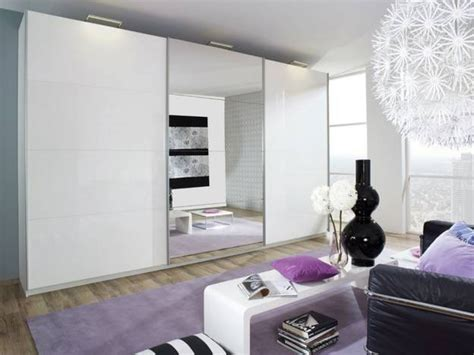 White Gloss Mirrored Wardrobes by Beluga Plus White Gloss Mirrored Sliding Wardrobe